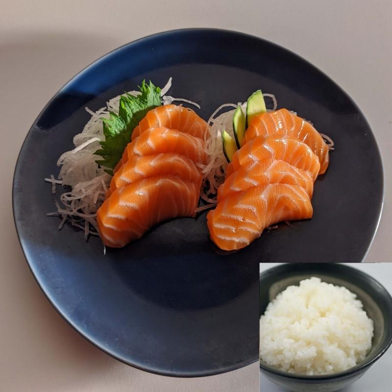 8 SASHIMI SAUMON LR+riz