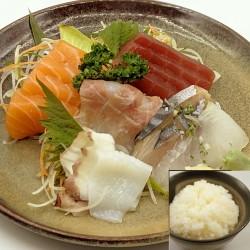 15 SASHIMI MIX avec bol de riz